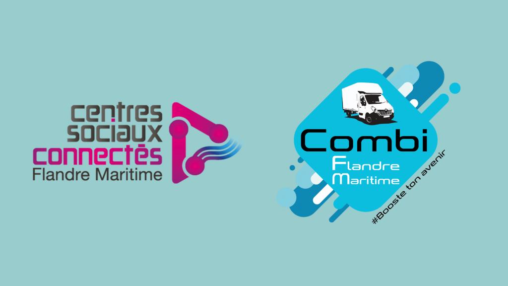 logo centres sociaux connectés et combi FM